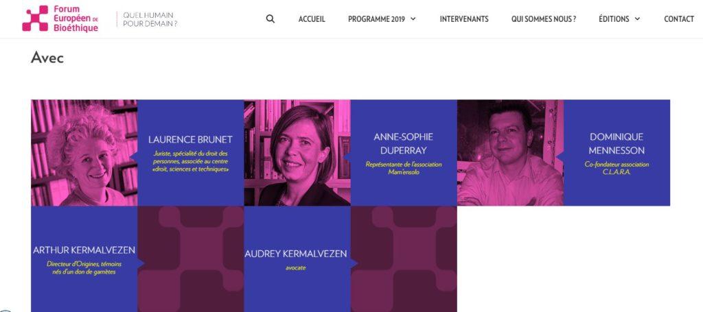 Mam'enoslo présente au forum européen de la bioéthique