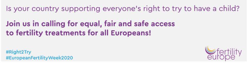 Fertility Europe - semaine européenne de la fertilité - Fertility week